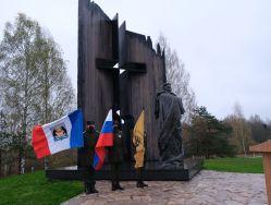 Ehrenmal an Zivilopfer des Nazi-Kriegsverbrechens im Dorf Schestjannaja Gorka
