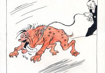 Cartoon by Boris Efimov, 1944