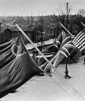 Die bayerische Stadt Nürnberg im November 1945