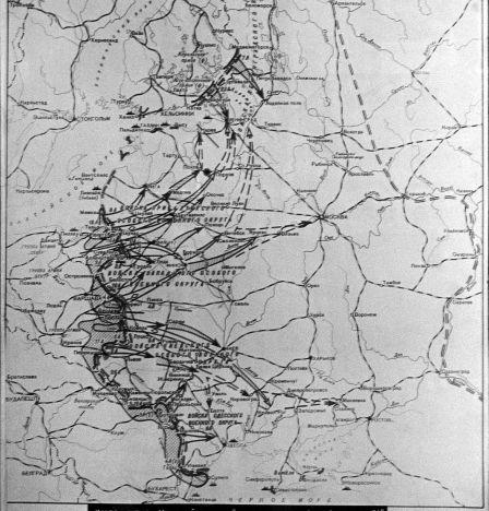 Carte schématique du «plan Barbarossa». Le plan de la guerre de l'Allemagne fasciste contre l'URSS. En 1940, Adolf Hitler a signé la Directive N°21 , baptisée «Barbarossa».