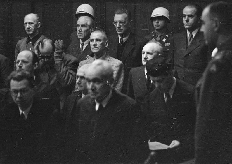 Angeklagte im Nürnberger Tribunal