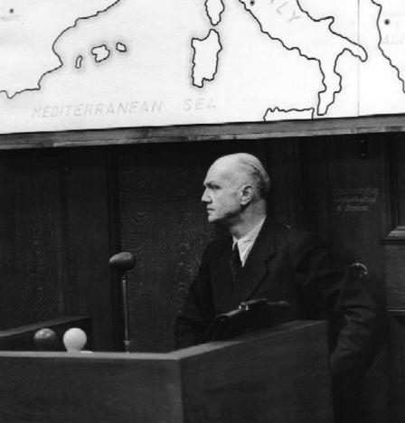 Erwin von Lahousen bei den Nürnberger Prozessen