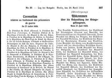 Abkommen über die Behandlung der Kriegsgefangenen