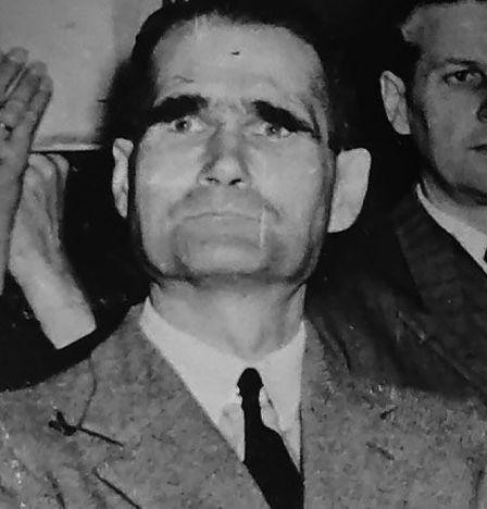 Rudolf Hess lors du procès de Nuremberg. Photo: Victor Temine