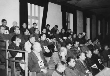 American Military Tribunal Sentences 36 Dachau Guards to Death