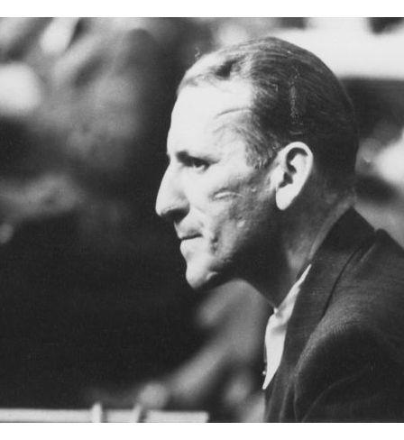 Ernst Kaltenbrunne at the Nuremberg trial, 1946, Truman Library. Public Domain