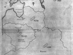 Karte aus einem Bericht der Einsatzgruppe A, Oktober 1941