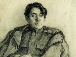 Boris Polewoj. Skizze von Nikolaj Schukow