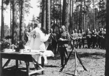 Ostpreußen, Gottesdienst für deutsche Soldaten
