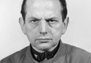 Otto Ohlendorf (1907-1951), German SS-General of the Einsatzgruppen killing squads. This photograph of Ohlendorf was taken by US Army photographers on behalf of the Office of Chief of Counsel for War Crimes (OCCWC) during Nuremberg Trial IX (Einsatzgruppen Trial / Einsatzgruppen-Prozess).