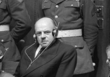 Fritz Sauckel at the 1945–1946 Nuremberg Trials