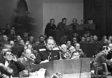 Rede des sowjetischen Chefanklägers Roman Rudenko beim Nürnberger Tribunal