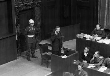 Generalfeldmarschalls Friedrich Paulus beim Nürnberger Prozess