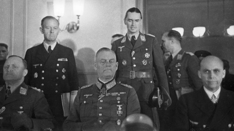 Field Marshal Wilhelm Keitel signing the German Instrument of Surrender. 8 May 1945.  © Sputnik, Georgy Petrusov