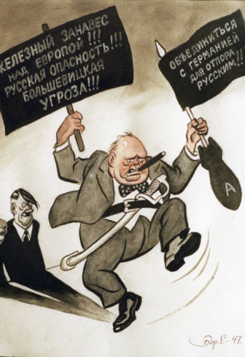 «Intervention à Fulton», caricature de l'artiste Boris Efimov