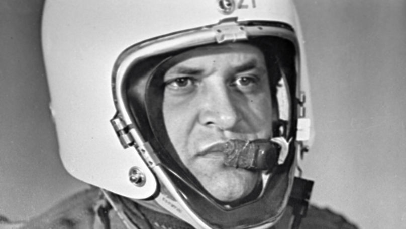 Francis Gary Powers wearing special pressure suit for stratospheric flying was an American spy whose Lockheed U-2 reconnaissance plane was shot down by a Soviet surface-to-air missile outside Sverdlovsk.