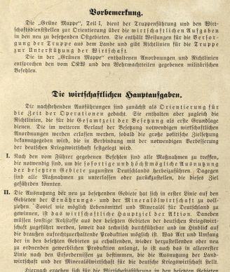 Richtlinie für die Führung der Wirtschaft in den neu besetzten Ostgebieten