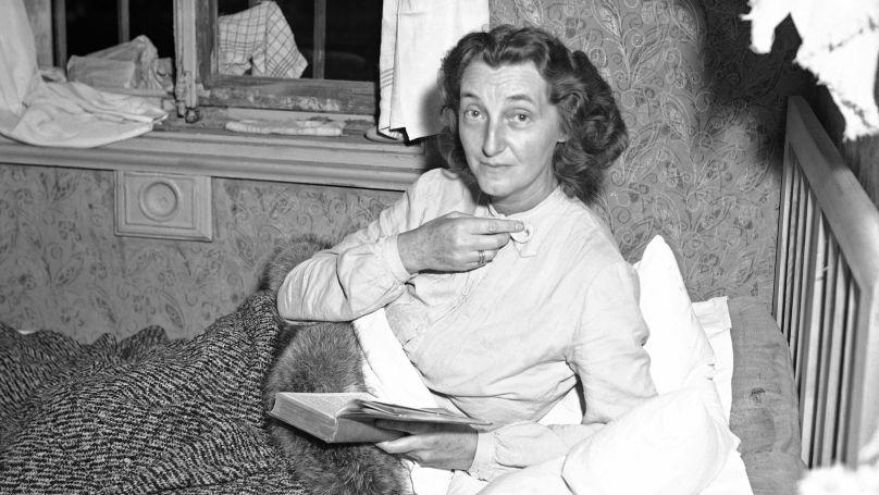 Margaret, veuve de Wilhelm Frick, dans la prison de la ville de Starnberg, où elle a été placée sur l'ordre du ministre bavarois de la dénazification Alfred Loritz.