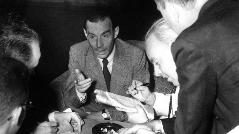 Erich Maria Remarque, auteur du roman À l'Ouest rien de nouveau, à New York le 4 septembre 1939