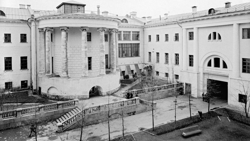 La cour intérieure de l'Université technique d'État Bauman de Moscou