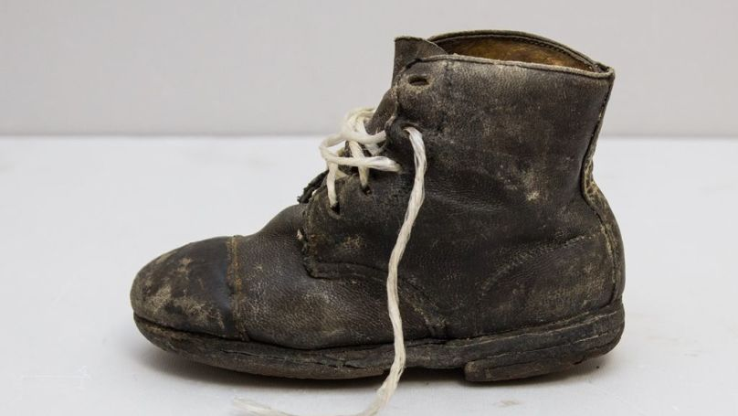 A child's shoe at the Majdanek concentration camp