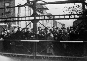 Häftlinge von Auschwitz. Januar 1945.
