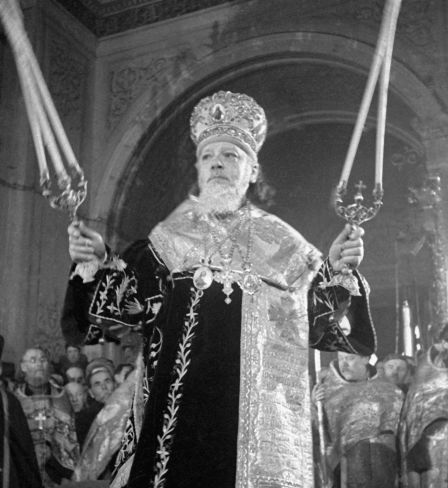 The enthronement of Patriarch Alexy I of Moscow on February 4, 1945.