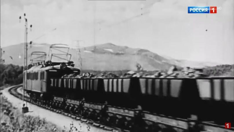 A train transporting iron ore