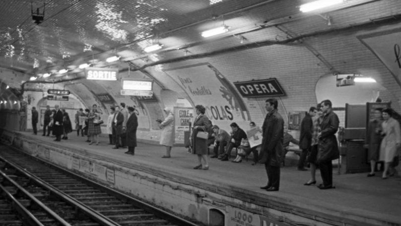 Opera metro station in Paris, 1963.