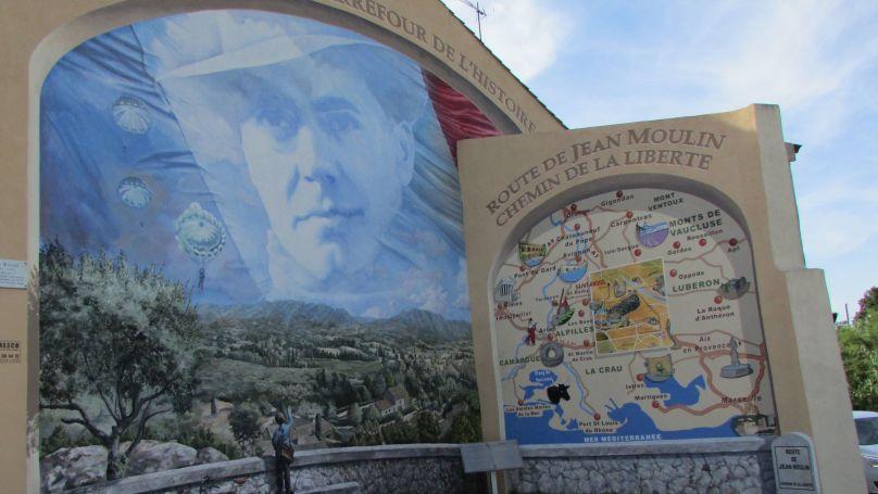 Jean Moulin Memorial in Saint Andiol, France.