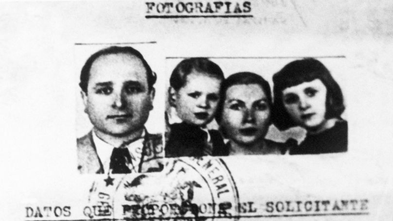 """Klaus Barbie's passport, secured in the name of """"Altmann"""" by American counterintelligence, permitted the ex-Nazi to escape with his family from Germany to Bolivia. Barbie is the subject of the biography The Butcher of Lyon: the story of Infamous Nazi Klaus Barbie, by Brendan Murphy, published by Empire books, Oct., 1984."""