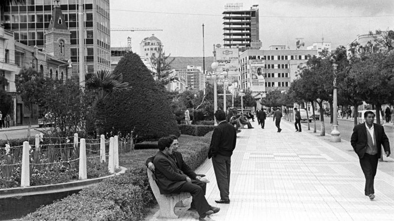16 July Avenue in La Paz, Bolivia, 1971.