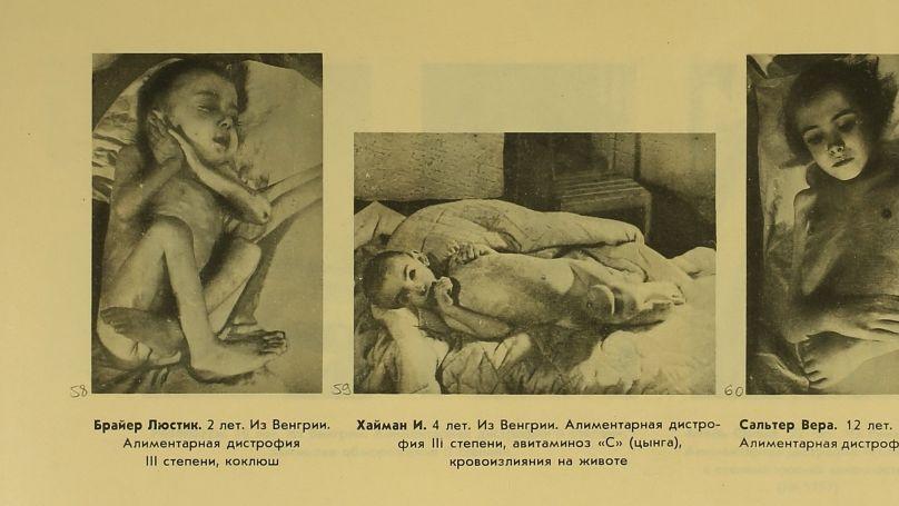 Children prisoners at Auschwitz concentration camp