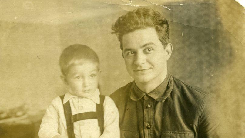 Nikolay Zorya with his son Yuri.
