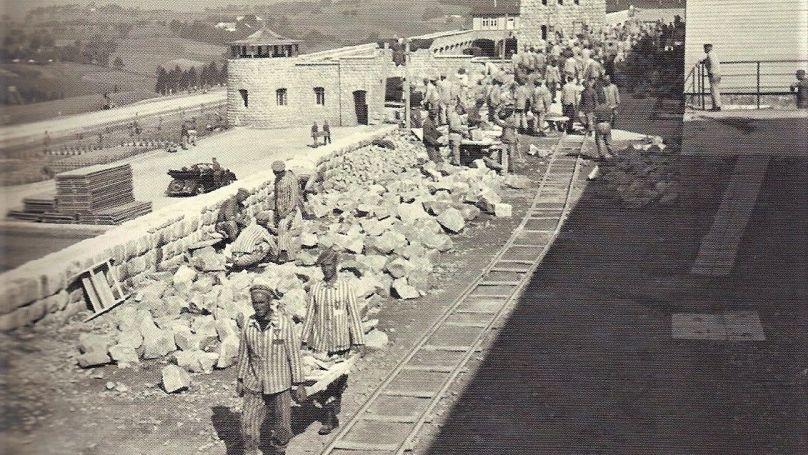 Des carrières dans un camp de Mauthausen.