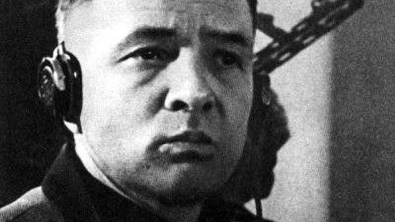Rudolf Höss, ex-commandant du camp de concentration d'Auschwitz lors du procès à Varsovie, mars 1947.
