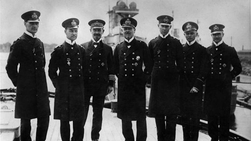 Admiral Franz von Hipper with his staff