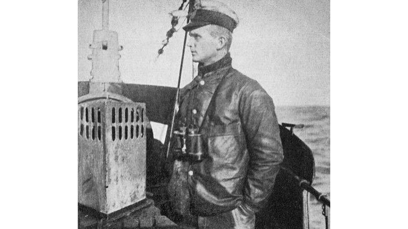 Oberleutnant zur See Karl Dönitz as Watch Officer of U-39 during World War I