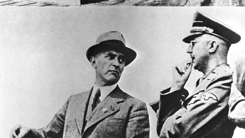 Max Faust and Heinrich Himmler in Auschwitz