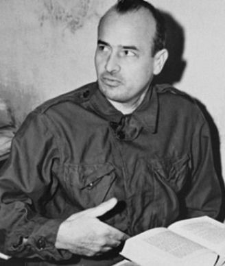 Hans Frank in seiner Zelle, November 1945.