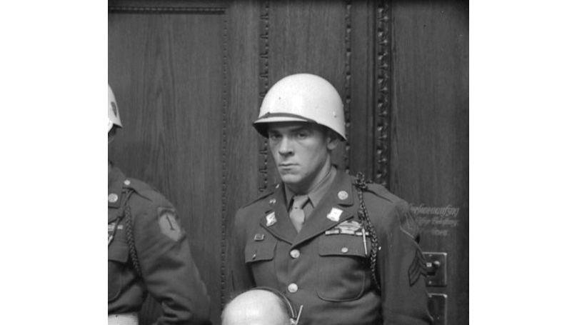 Defendant F. Sauckel at the Nuremberg Trials.
