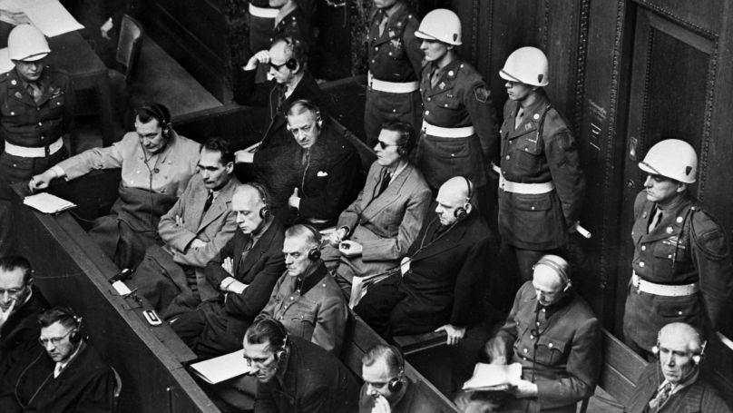 Procès de Nuremberg. 20 novembre 1945 - 1er octobre 1946. Sur le banc des accusés.