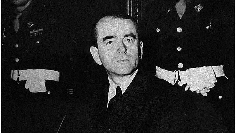 Albert Speer lors du procès de Nuremberg