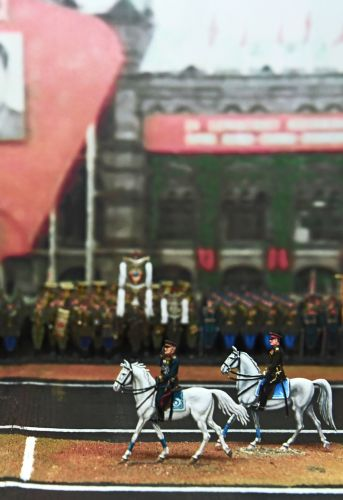 Fragment of the 'Victory Day Parade' diorama at the Central Museum of the Russian Armed Forces in Moscow