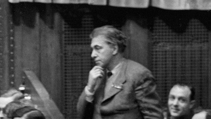 Soviet writer Ilya Ehrenburg.