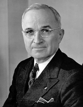 Harry Truman, the 33rd President of the United States