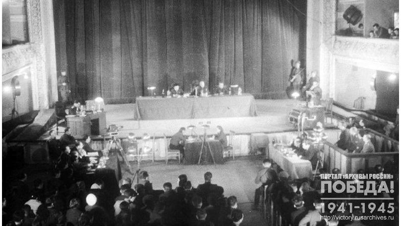 Le procès de Kharkov des criminels de guerre allemands, décembre 1943 // A.Kapoustianski, RGAKFD // Projet Образывойны.рф