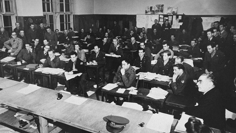 Salle de presse au procès de Nuremberg 1945-1946 // Harry S. Truman Library