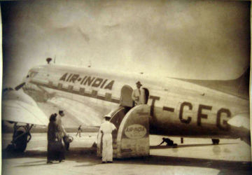 Vintage photograph of Air India's first aircraft