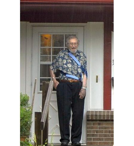 Georg Gärtner, connu sous le faux nom de Dennis Whiles, 89 ans, lors du Jour de l'Indépendance aux États-Unis, le 4 juillet 2009.